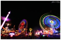 Long exposure Night Motion from The Ekka in Brisbane